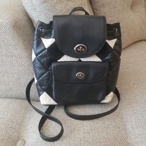 Coach Black Patchwork Leather Backpack